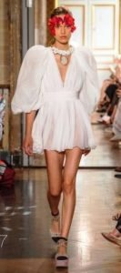 giambattista valli maniche a sbuffo abito corto bianco