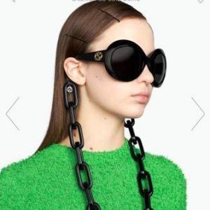 maxi catene occhiali gucci neri