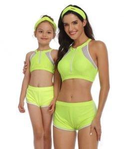 Costumi mamma e figlia sportivo