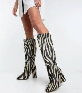 stivali stampa zebrata asos