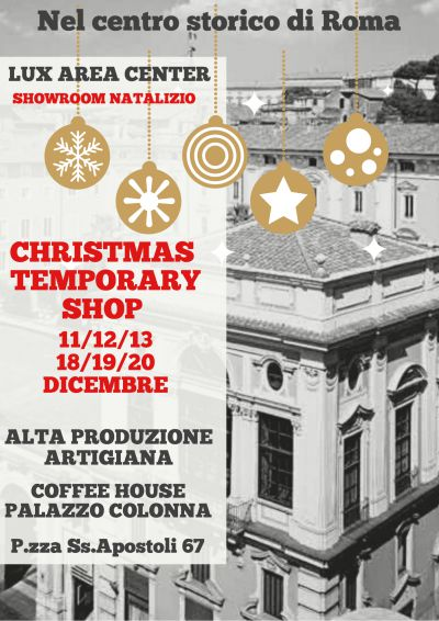 Christmas Temporary Shop Coffee House Palazzo Colonna