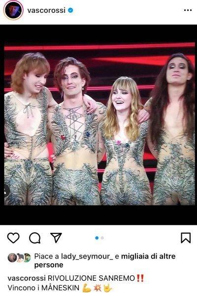 Maneskin Instagram Vasco ROssi