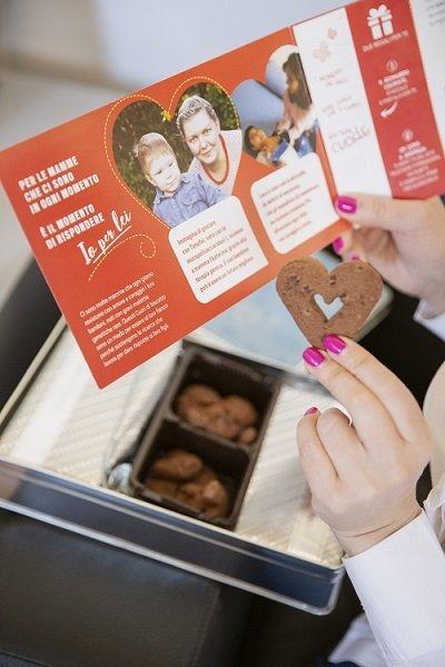 Telethon biscotti a cuore cioccolato